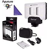 Aputure AL-M9 Camera Video Light w Transparent Color Filter, Amaran LED Mini Light on Camera Video Light, Black