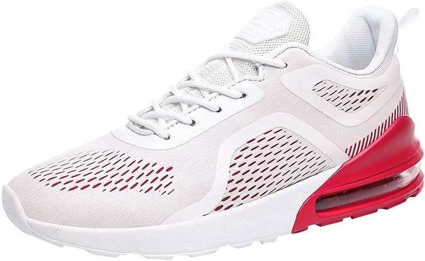 VBWER - Zapatillas de running para hombre, transpirables, de malla, zapatillas altas de encaje, zapatillas bajas, cómodas y cómodas con relieve de burbujas, zapatillas ligeras deportivas al aire libre, tenis bajos Size: