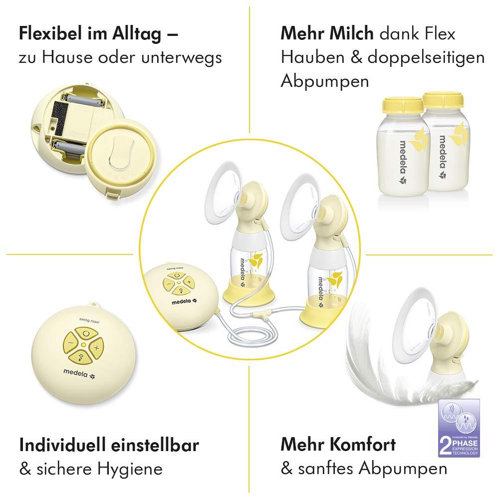 Medela Milchpumpe Swing Maxi Flex elektrische Milchpumpe f/ür doppelseitiges Abpumpen mehr Milch und mehr Komfort