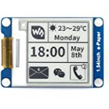 Waveshare 1.54 Inch E-Paper Display Panel Module Kit 200x200 Resolution 3.3v E-ink Electronic Paper Screen with Embedded Controller SPI interface for Raspberry Pi/Arduino/Nucleo Support Partial Refresh