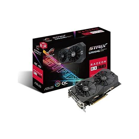 ASUS ROG-STRIX-RX570-4G-GA Radeon RX 570 4GB GDDR5 - Tarjeta gráfica (AMD, Radeon RX 570, 5120 x 2880 Pixeles, 1254 MHz, 1244 MHz, 5120 x 2880 ...