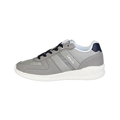 91018859d8516 Chaussures de Tennis à Lacets Semelles épaisses Gris Homme - Levis ...