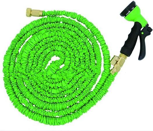 Tubo de Manguera de Agua de jardín Manguera De Jardín, Manguera De Agua Extensible, con Manguera De Agua Flexible, Manguera Flexible De Jardín Amarillo Flexible con 8 Funciones para el hogar, jardín,: