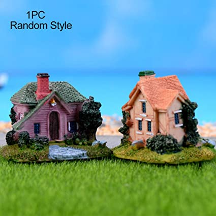 Decoration Miniature Villa Maison De Poupee Jardin De Fees