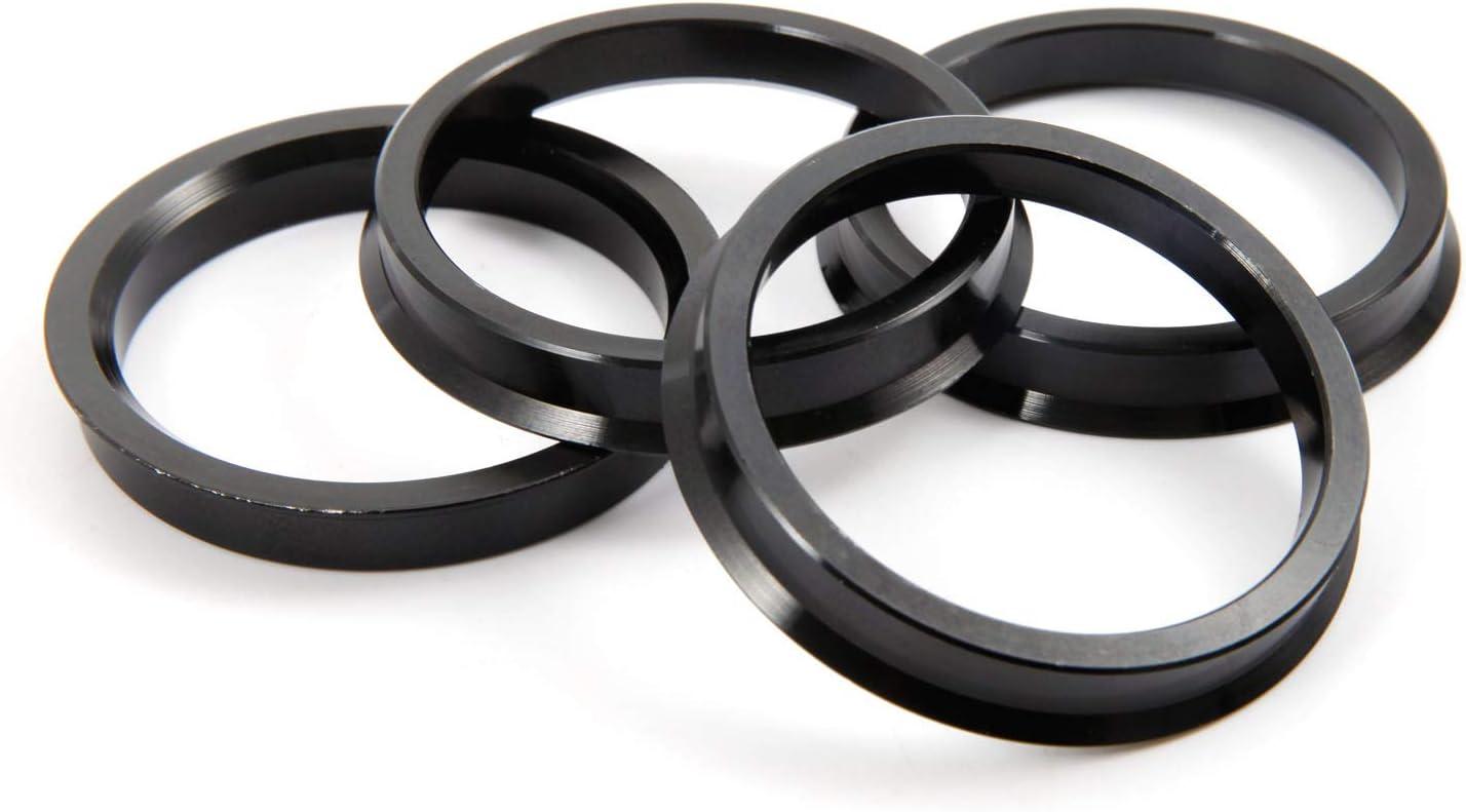 Silver, 72.6-74.1mm SurePromise 4 Alloy Hub Centric Rings Car Wheel Bore Center Spacers Spigot Centering Ring Aluminium Rim