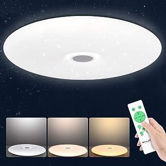 fürs Badezimmer LED Deckenleuchte Wandlampe rund weiß mit ohne Sternenhimmel