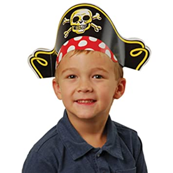 Amazon.com  US Toy Pirate Captain Cardboard Party Hats Costume (1 ... bc16b19d2e71