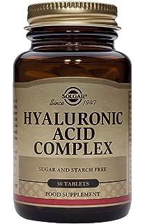 Solgar Ácido Hialurónico Complex. Proporciona colágeno hidrolizado, ácido hialurónico y vitamina C, para