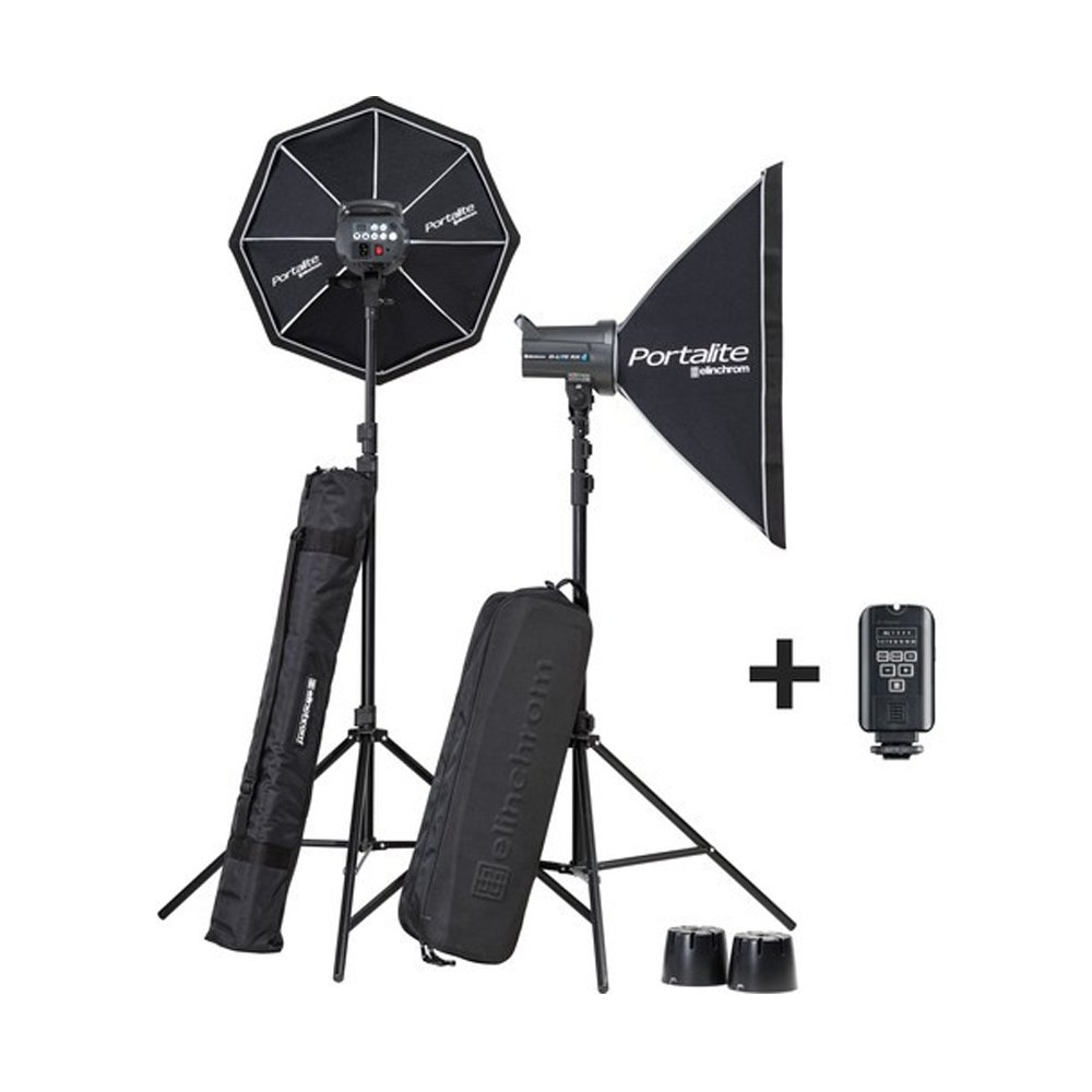 Elinchrom Lighting Kit D-LITE RX 4/4 SOFTBOX TO GO, Black (EL20839.2) by Elinchrom