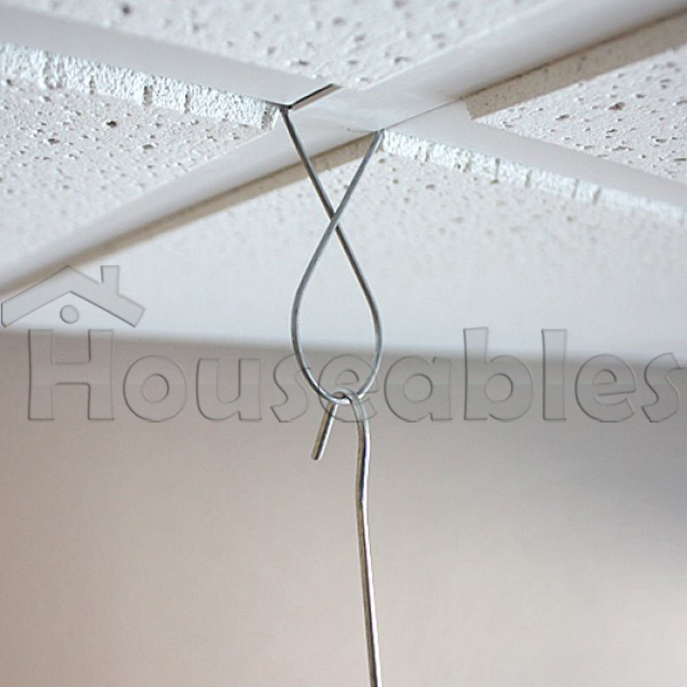 Amazon.com : 100 Ceiling Clips T-Bar Wire Figure-8 Suspended Grid ...