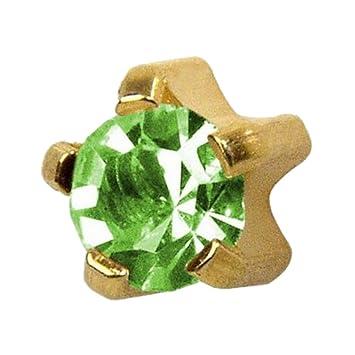 Studex Ear Piercing Regular Gold Plated Stud Earrings 4mm Claw Set Birthstones