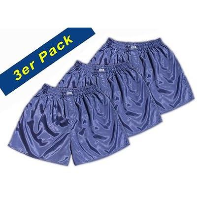 (M) 3 shorts pour Bleu marine Hommes Boxer Shorts Sous-vêtements Vêtements de nuit en satin