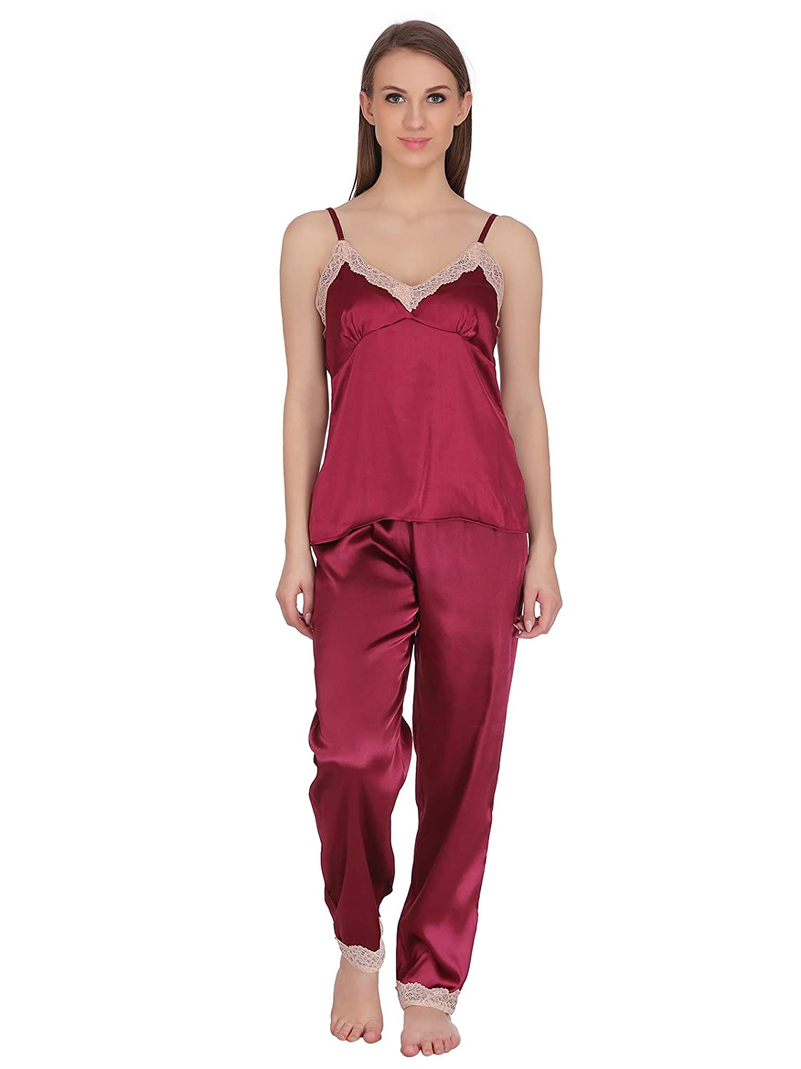 Clovia Women s Satin Spaghetti Top   Pyjama  Amazon.in  Clothing    Accessories d965b6308