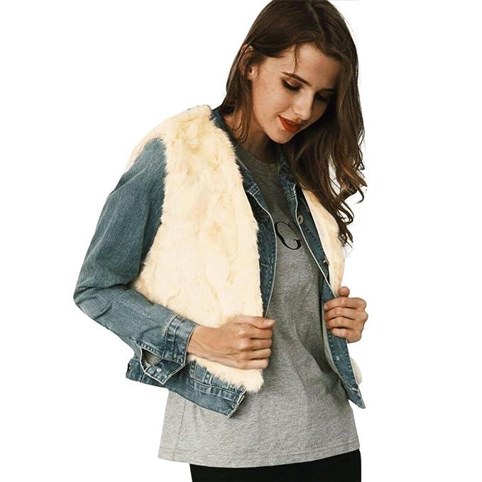 KOLY 2017 nueva moda Mujer Chaleco sin mangas Prendas de abrigo de pelo largo Chaleco Chaqueta mujer piel de imitación: Amazon.es: Ropa y accesorios