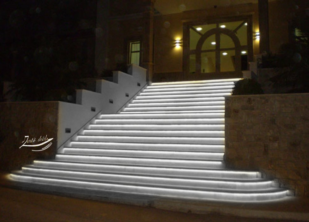 Zento Deals 30cm White LED Car Flexible Waterproof Light Strips Pack of 4