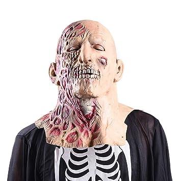 RZ Máscara De Halloween De Dos Caras Adulto Máscara De Miedo De Látex Cara De Cabeza