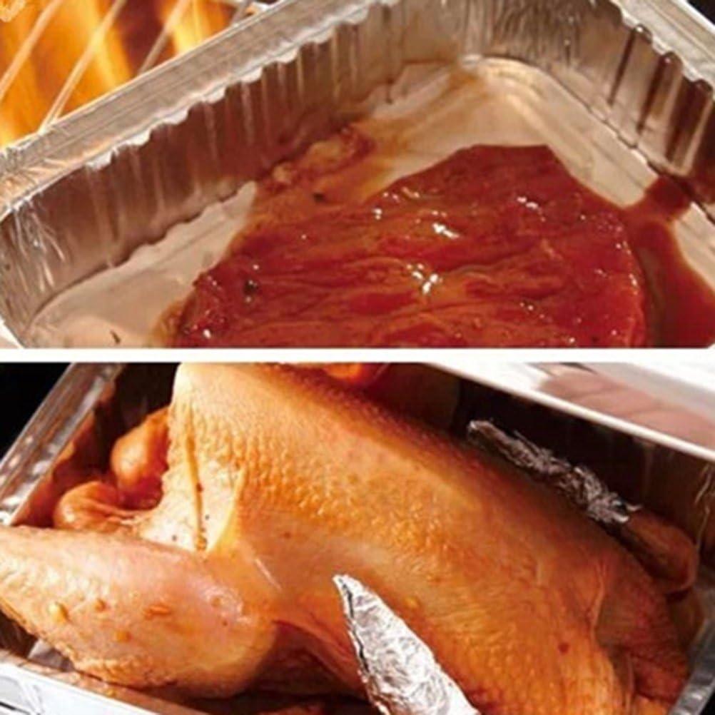 25,5 /×19,5 /× 5,5 cm. la cuisson et le stockage congel/é des aliments Lot de 30 plateaux jetables en aluminium pour la cuisson