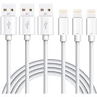 Marchpower Kabel do ładowania iPhone'a - certyfikowany kabel Lightning MFi - 3 szt. 1 m kabel USB do szybkiego ładowania…