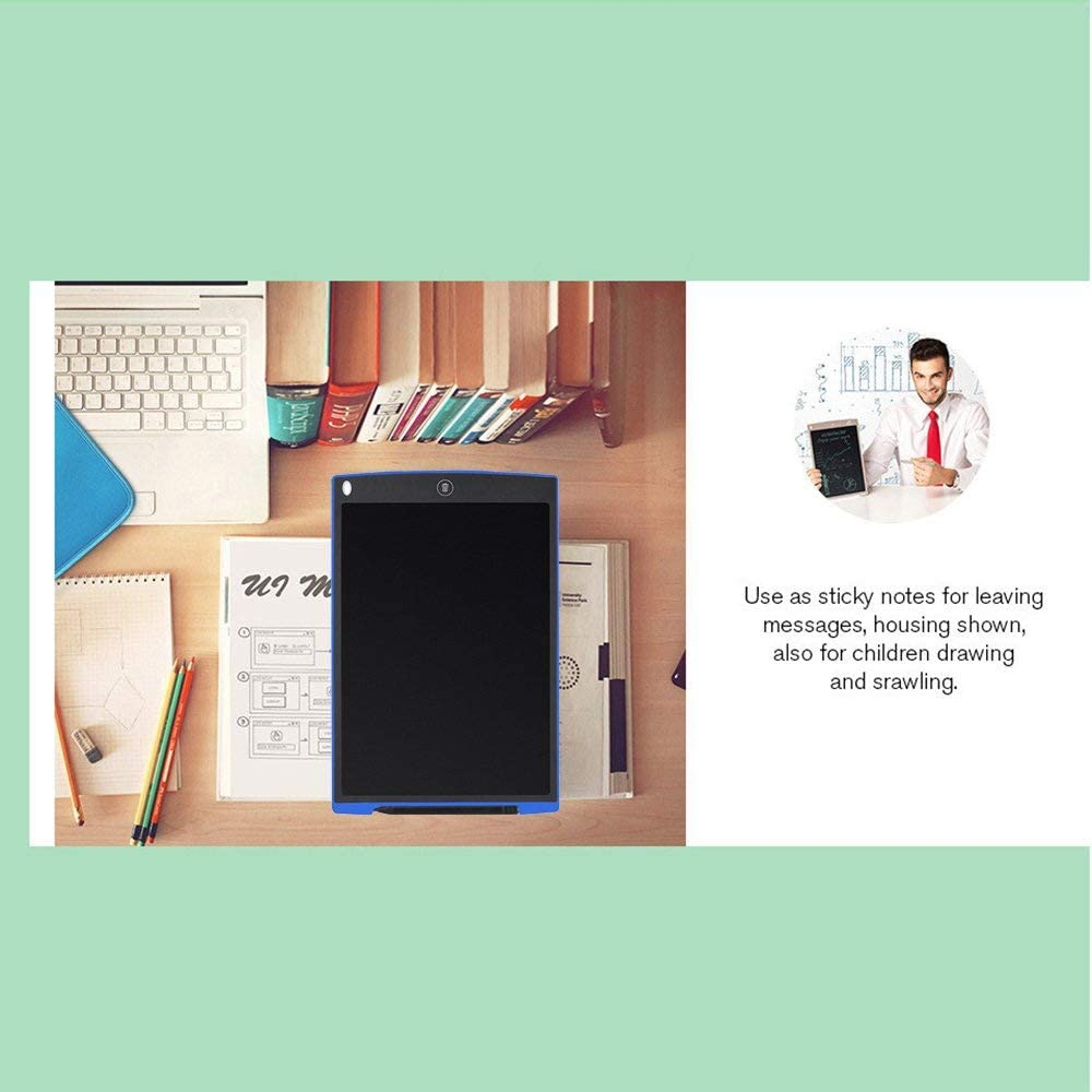 WSMLA 12 Inch LCD Writing Tablet Doodle Pad Drawing Board Office Whiteboard Fridge Memo Message Boards Gifts for All Ages
