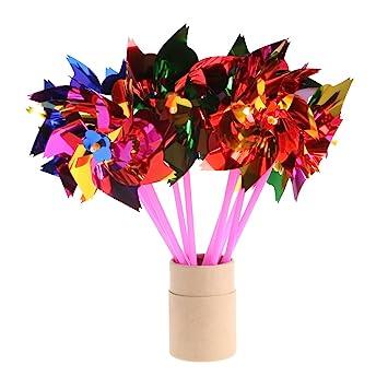 amazon com scastoe 10pcs plastic windmill kids wind spinner toy