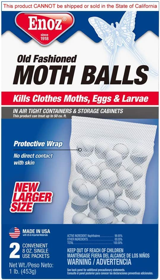 Enoz Old Fashioned Moth Balls, 16 Ounce
