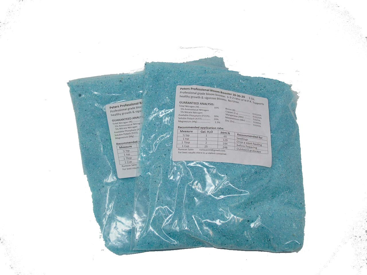Peter's 10-30-20. 2 Pounds. Blossom Booster Water Soluble Fertilizer with Micro Nutrients.