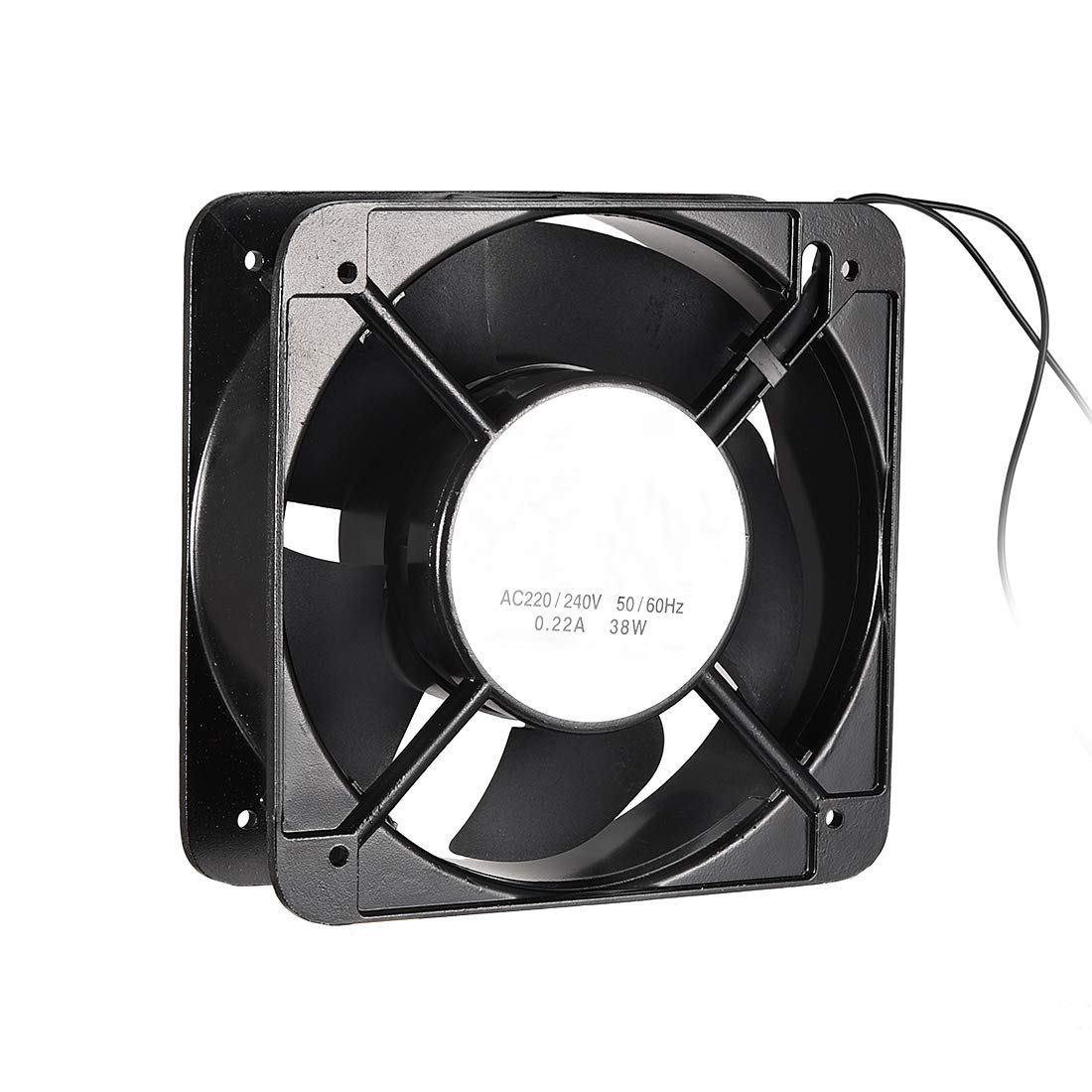 uxcell Cooling Fan 150mm x 150mm x 50mm FP-108EX-B1-B AC 220V-240V 0.22A Dual Ball Bearings