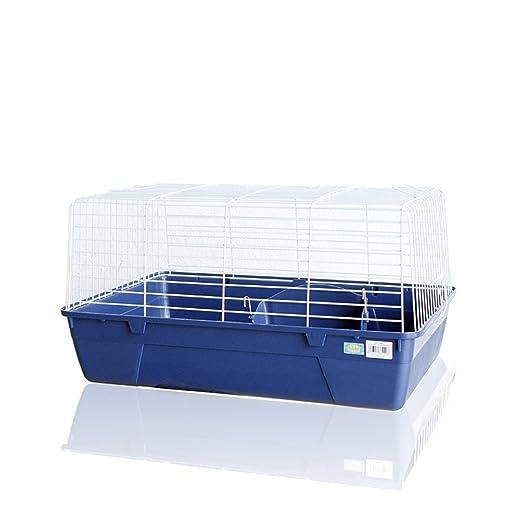 DZL Jaula para Conejo 69 * 44 * 37cm Color Azul Marino, Verde y ...