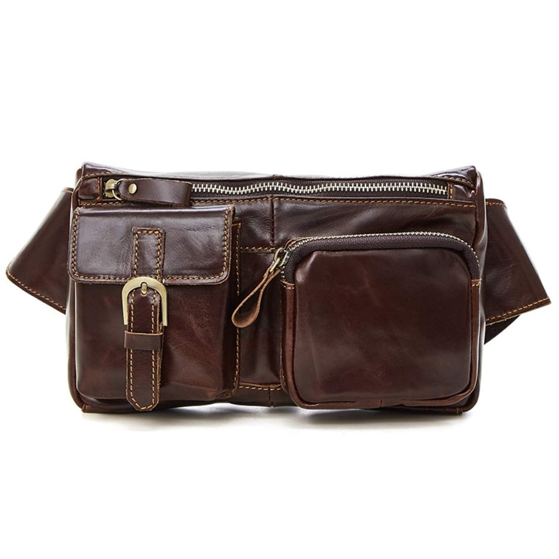 Souliyan Leather Waist Bag Bum Bag Fanny Pack Travel Waist Pack for Leisure Sports Holiday
