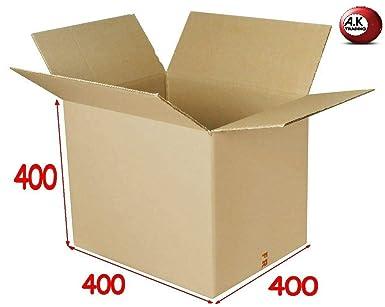 Lote de 10 cajas de cartón cuadradas de 40 x 40 x 40 cm de largo, doble canal, muy sólidas: Amazon.es: Industria, empresas y ciencia