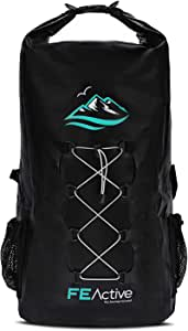 FE Active Dry Bag Waterproof Backpack - 30L Eco Friendly Wet Bag for Men & Women for Fishing, Travel, Hiking, Beach & Survival Gear Storage, Camera & Camping Accessories | Designed in California, USA