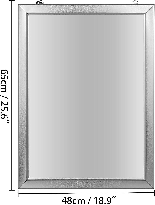 VEVOR Panneau Ultraslim de LED 23,39x16,54 Pouces Publicit/é dAffichage /à Lumi/ère LED Panneau Led Lumineux en Argent 220V Peut Illuminer Clairement des Affiches et Publicit/és