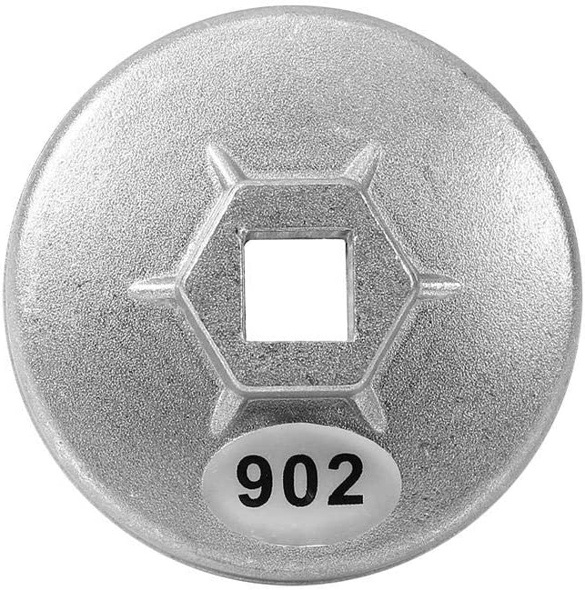 Herramienta de llave de tapa de filtro de aceite de 67 flautas de 14 mm - Llave de filtro de aceite de llave de aluminio Keenso 902