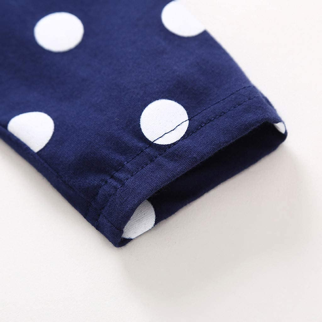 Kobay Kleinkind Baby M/ädchen Kinder Kleidung Langarm Dot Deer Tops T-Shirt Kleid