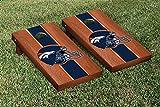 NFL Denver Broncos Rosewood Stained Stripe Version Football Cornhole Game Set, 24'' x 48'', Multicolor