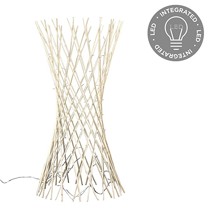 MiniSun - Decorativa lámpara de pie hecha de mimbre trenzado ...