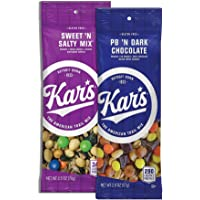 Kar's Nuts Variety Pack Trail Mix Snacks - Sweet 'N Salty Mix, Peanut Butter 'N Dark Chocolate Individual Packs (Pack of…