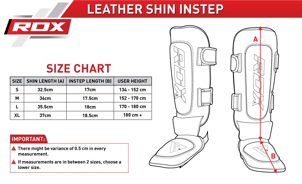 RDX Shin Guard Leather MMA Instep Leg Pads Muay Thai Boxing Training Protective Gear Kickboxing