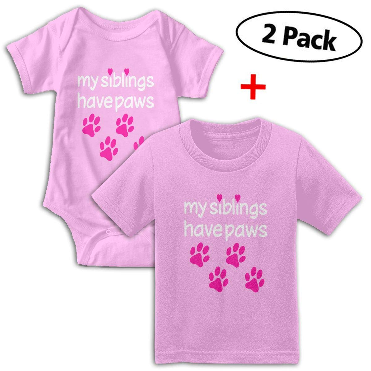 My Siblings Have Paws Babys Boys /& Girls Short Sleeve Romper Bodysuit Outfits And T-shirt