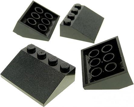 5 x LEGO Dachstein 33° 3 x 1 4286 schwarz neu