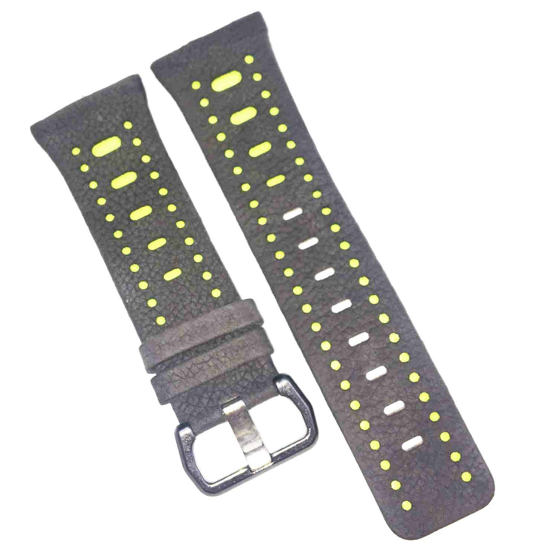 For Fitbit Ionicバンドレザー、調節可能なレザー交換用ストラップfor Fitbit Ionicスマート腕時計、アクセサリーストラップfor Fitbit Ionic Smart Fitness Watchレディースメンズ Sanding gray+green Sanding gray+green B078KHV8ZP