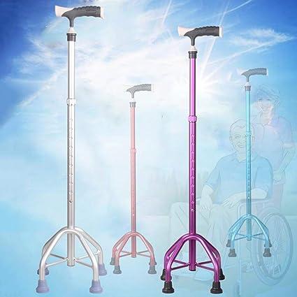Cheng-muletas Ancianos Walker Aleación de Aluminio Retráctil ...