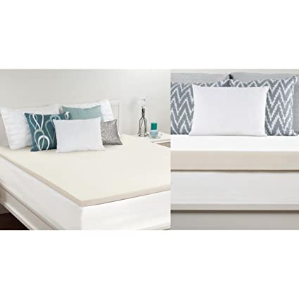 Amazoncom Sealy 15 Inch Memory Foam Mattress Topper Queen