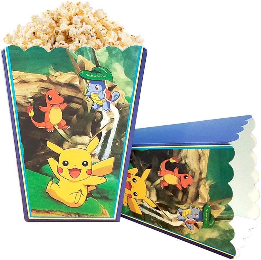 Pokemon Popcorn Box Birthday Party Decoration Party Supplies 12pc for Kids Birthday Party Supplies