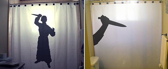 Scary Psycho Killer Shower Curtain