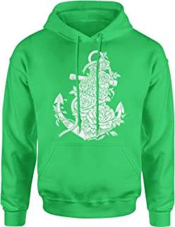 Expression Tees Anchor with Roses Unisex Adult Hoodie