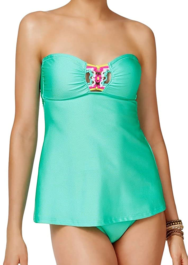 a5268f8d7f525 Two Piece Bathing Suit Set comes with Top & Bottom, both size Small A-Line  Easy Fit Babydoll Bandeau Style Neckline wtih Flared Bodice