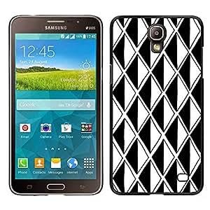 "Pulsar Snap-on Series Teléfono Carcasa Funda Case Caso para Samsung Galaxy Mega 2 , Negro Ilusión Blanca Polígono óptico"""