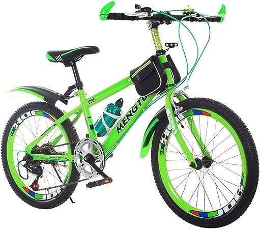 Bicicletas Triciclos Niños Carretera para Estudiantes Carreras Al Aire Libre Montaña para Niños Y Niñas Viaje (Color : Green, Size : 20inch): Amazon.es: Hogar