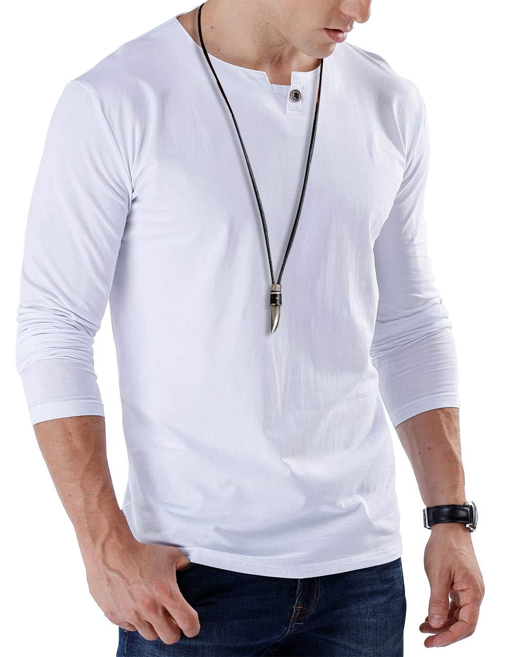 JNC Mens Casual Single Button Slim Fit Long Sleeve